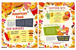 Fast food restaurant takeaway menu template