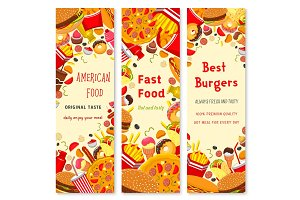 Fast food restaurant banner for menu flyer design