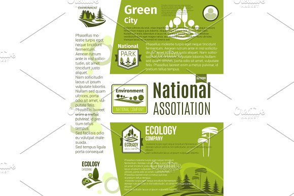 Green City Eco Business Ecology Poster Template