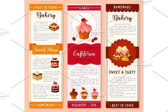 Cake Bakery And Pastry Dessert Banner Template