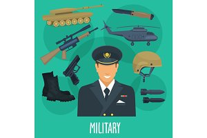 Military man occupation machines and vector weapon