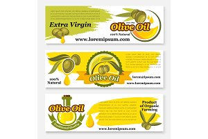 Olive oil banners for food design