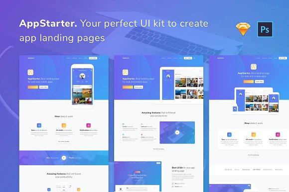 AppStarter UI Kit For App Landings