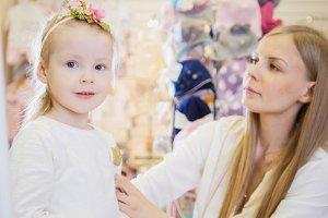 Cute baby girl with flower headband