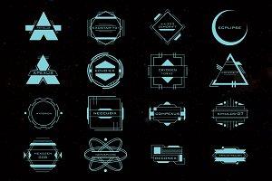 16 Sci-Fi Tech Space Logos