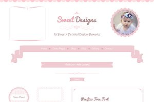 Sweet Designs Web Elements PSD