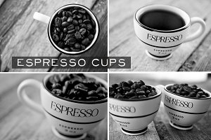 Espresso Cups - Black & White