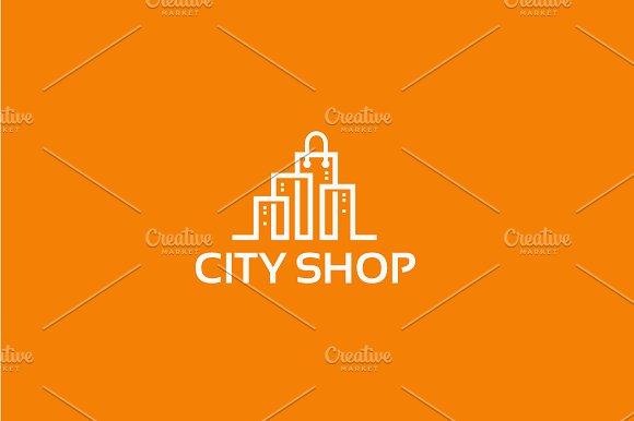 City Shop Logo Designs Template