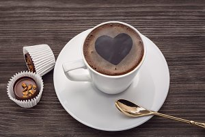 Coffee and chocolates.