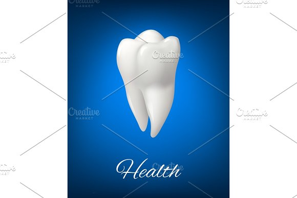 Vector White Tooth For Dental Care Design