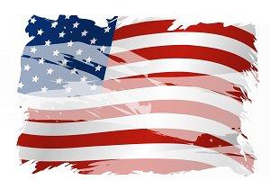 Vector USA flag background design