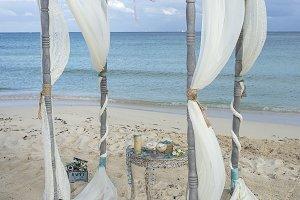 classic beach wedding gazebo