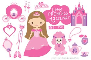 Princess Vector EPS PNG Clipart