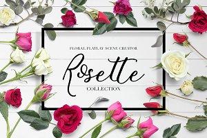 Floral Flatlay Scene Creator Rosette