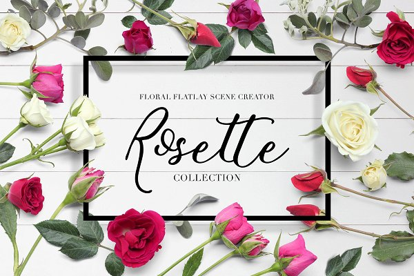 Floral Flatlay Scene Creator Rosett…