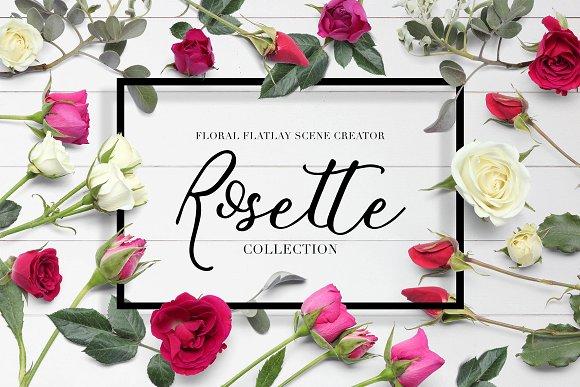 Download Floral Flatlay Scene Creator Rosette