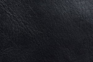 Real black leather background