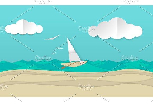 Paper Craft Sailboat Ship