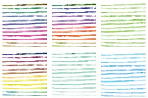 14 Watercolor strips backgrounds