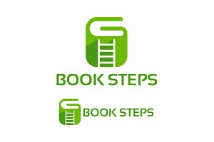 G-Book Steps Logo Template designs