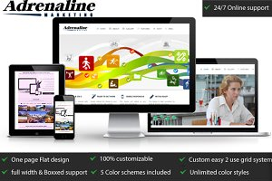 Adrenaline Marketing Bootstrap Theme