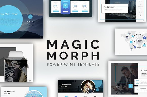 Magic morph powerpoint template presentation templates creative magic morph powerpoint template presentation templates creative market toneelgroepblik Choice Image