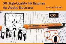 90 Pro Illustrator Ink Brushes