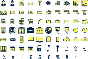 Accountant icons