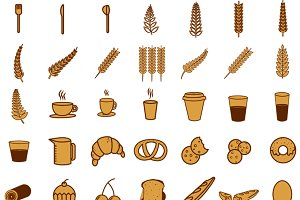 brownst bakery icons