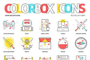 Colorbox icons, Game Design