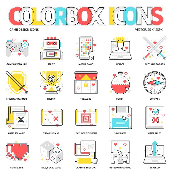 Colorbox Icons Game Design