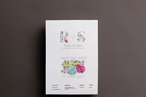 Floral Wedding Invite/Save the date