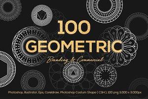 100 Geometric Vector Shapes CSH