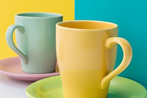 Cups for coffee and tea.