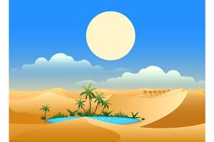 Desert oasis background