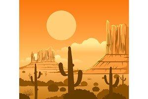 America wild west desert landscape