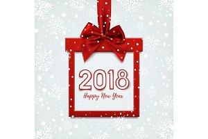 Happy New Year 2018 desig.