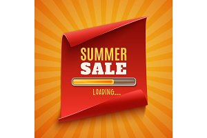 Big summer sale loading poster.
