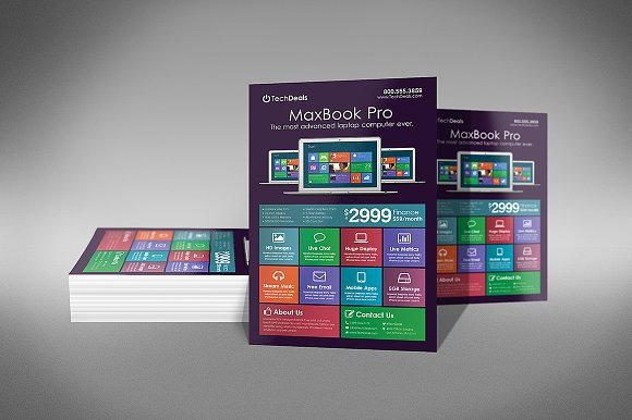 computer business flyer template flyer templates creative market