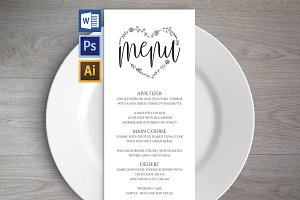 Wedding Menu Template Wpc 124