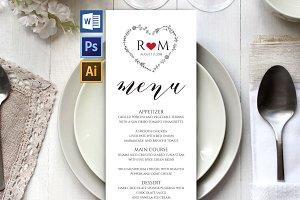 Wedding Menu Template Wpc 126