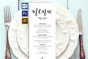 Wedding Menu Template Wpc 127