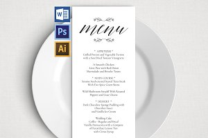 Wedding Menu Template Wpc 128