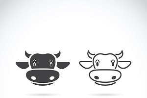 Vector of cow face design.