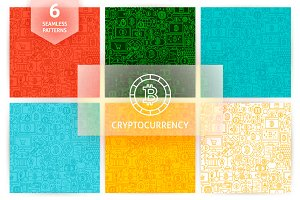 Bitcoin Line Tile Patterns