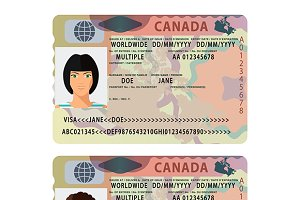 Canada style passport visa sticker