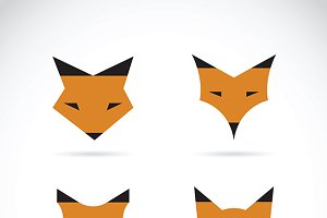 Vector of a fox face design.