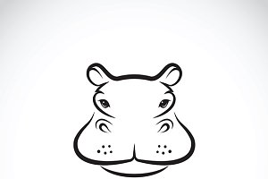 Vector of a hippo face design.