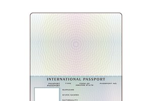 Open international passport template