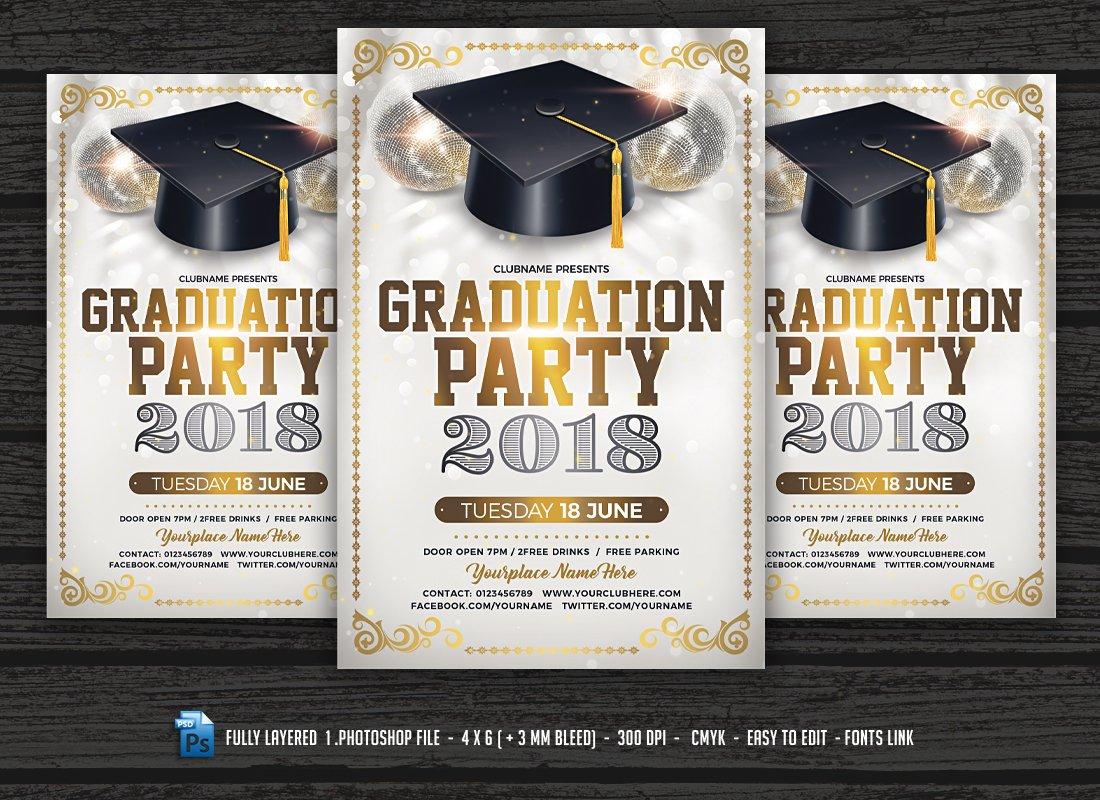 graduation brochure templates - graduation party flyer template flyer templates